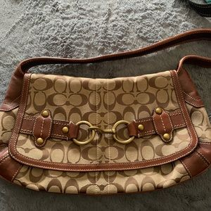 Classic Coach  bag with brass hardware
